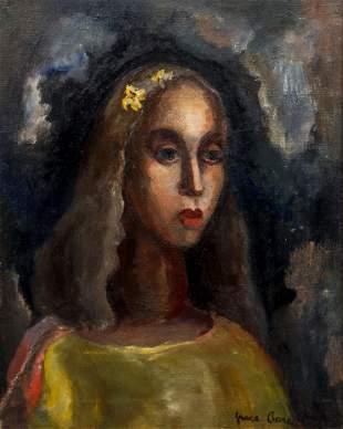 Grace Allison Barron oil Portrait of a Young Woman