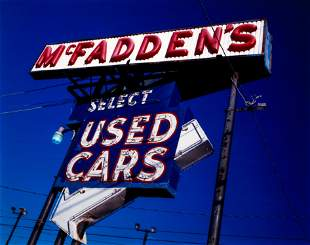 Charles Biddle McFadden's Used Cars color photograph