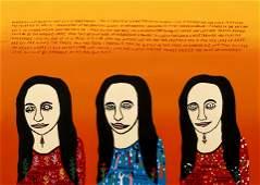 Howard Finster Mona Lisa Screenprint Signed Ltd