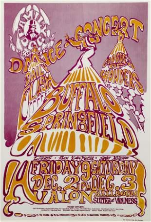 Ned Lamont Rock Poster Buffalo Springfield 1966