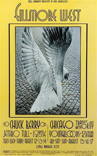 David Singer Rock Poster Chuck Berry 1969
