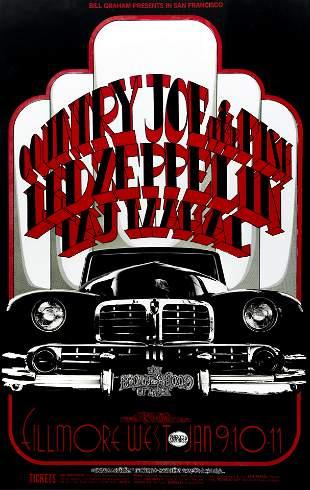 Randy Tuten Rock Poster Led Zeppelin Country Joe