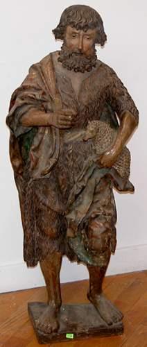 16th -17th Century German Wood Sculpt - Saint John