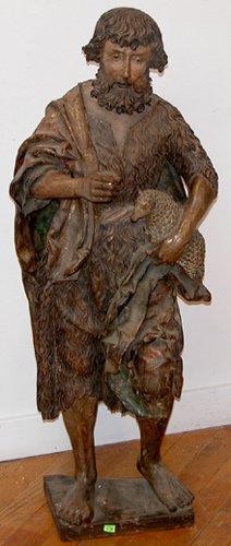 4: 16th -17th Century German Wood Sculpt  - Saint John