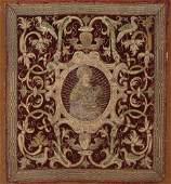 6: Three 17th century embroidered velvet altar panels