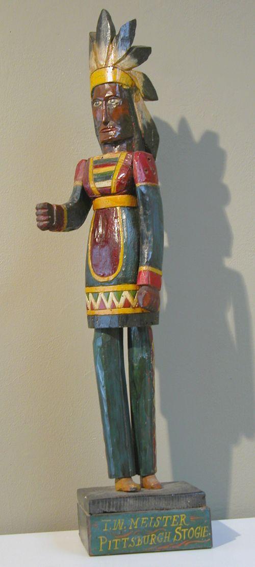 Polychromed Carved Cigar Store Indian