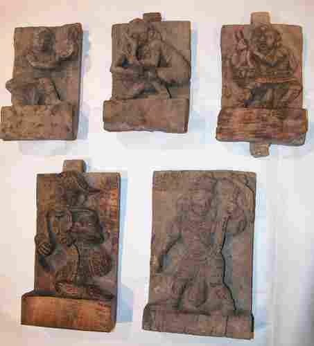 Five Hindu Carvings