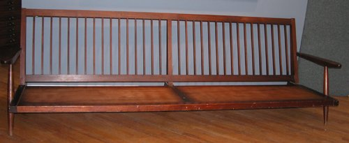 23: Early George Nakashima Four Foot Settee with Arms