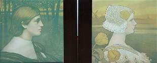 Paul Berthon, Complimentary Pair, 1902