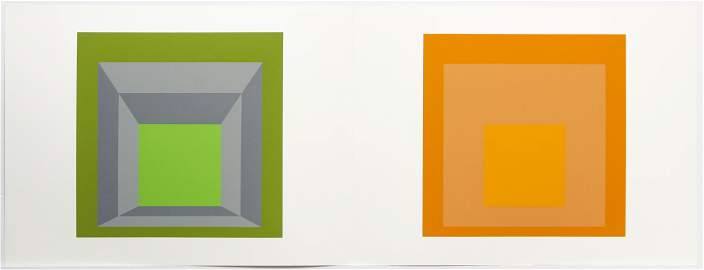 Josef Albers 2 Screenprints Formulation Articulation
