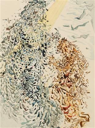 Salvador Dali The Dust of Souls Woodblock Signed