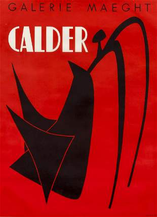 Calder and Miro pair of Maeght Lithograph Posters 1968