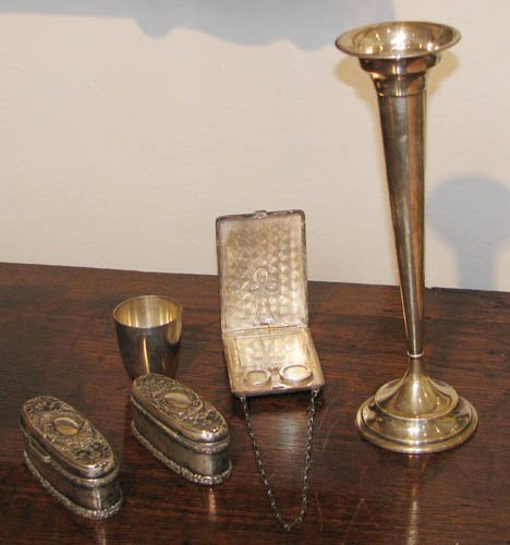2: 5 Assorted Sterling Objects