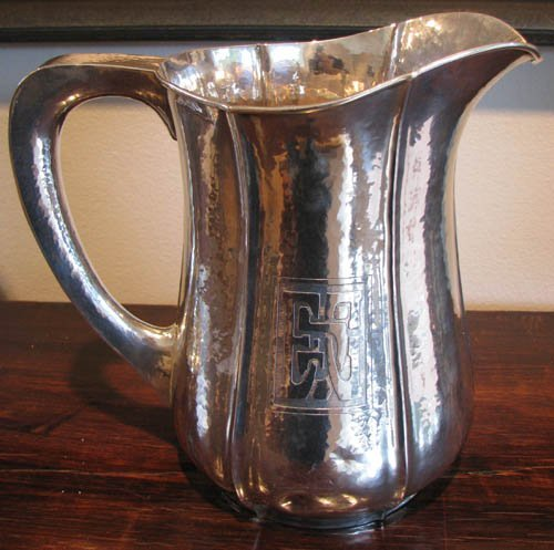 3: Sterling Silver Arts and Crafts Hand Wrought Water P