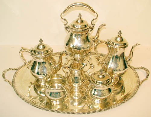 5: 7 Pc. Gorham Sterling Silver Tea and Coffee Service