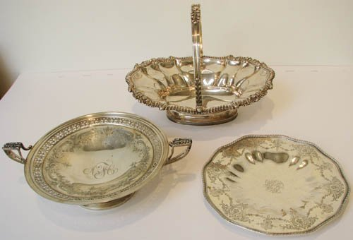 8: 3 pcs Assorted Sterling Dishes