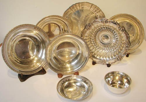11: 8 pcs Assorted Sterling Dishes