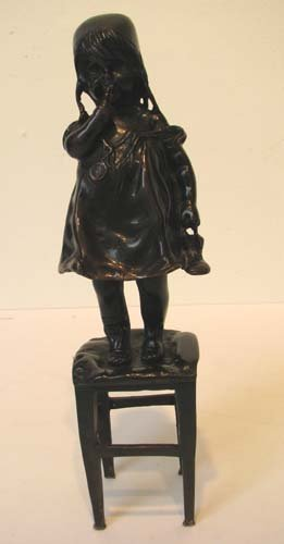 16: Bronze Sculpture of a Standing Young Girl