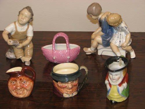 23: Set of 6 Ceramic Figurines including 2 Royal Doulto