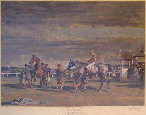 101:  signed Sir Alfred Munnings print After the Race