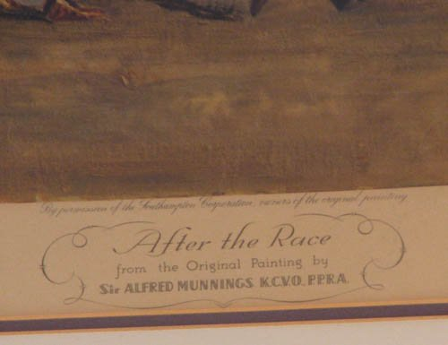 101:  signed Sir Alfred Munnings print After the Race - 2
