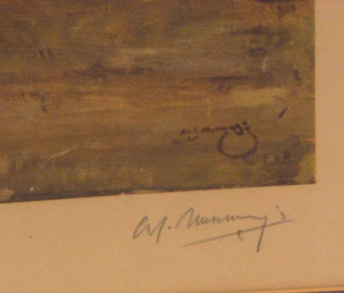 101:  signed Sir Alfred Munnings print After the Race - 3