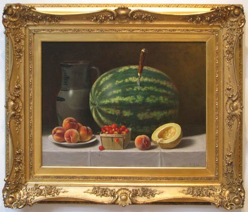 140: Highly Important A. F. King Fruit Still Life paint