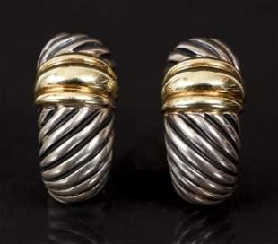 David Yurman Sterling 14K Earrings