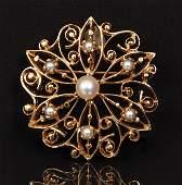 Ladies 14K Pearl Pin