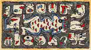 Strange Creatures Hooked Rug by Alice Black