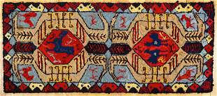 Tribal Pattern Hooked Rug by Alice Black