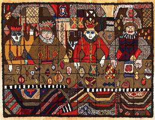 Medieval Court Hooked Rug by Alice Black