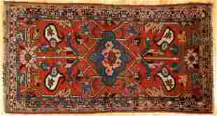 Antique Persian Senneh Rug 81 x 42 inches