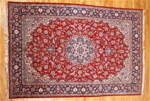 Esfahan Persian Semi-Antique Rug 10 x 14.5 feet