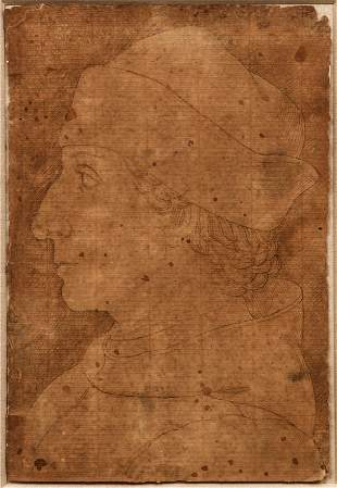 15th Century Italian School Portrait of Noble drawing