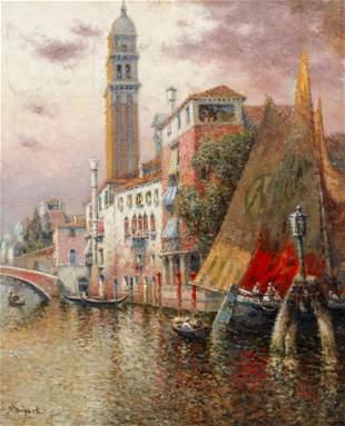 Nicholas Briganti Venetian Scene oil