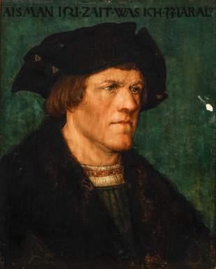 Nuremberg School oil on board portrait Aisman