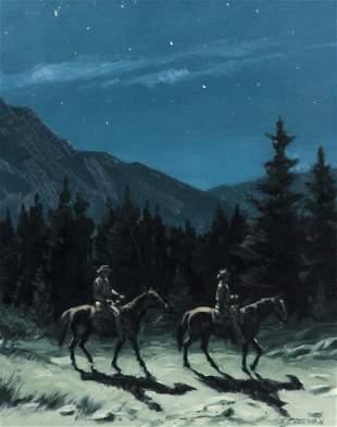 Richard Audley Freeman oil Moonlight Trail