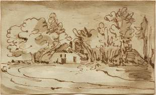 Attrib. Abraham Furnerius Landscape drawing