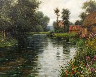 Louis Aston Knight, The River at Martin-Eglise oil