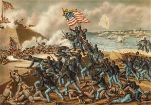 Kurz and Allison Storming Fort Wagner 1890 Civil War
