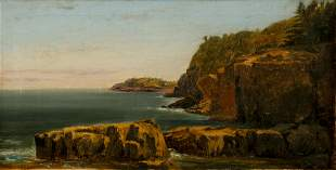 William Trost Richards oil Conancut Island Newport