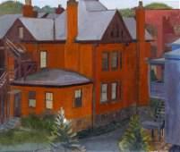 Stephen Hankin 1979 oil House in Squirrel Hill