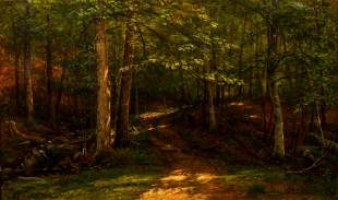 George Hetzel Oil Painting 1890 Wooded Path