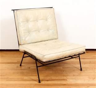 Mid Century Iron Lounge Chair original cushions