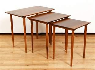 Mid Century Norwegian Nesting Tables Rosewood