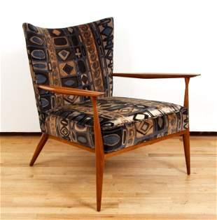 Paul McCobb Lounge Chair Lenor Larsen Fabric