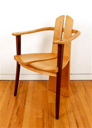 Paul Sirofchuck modernist Maple Armchair