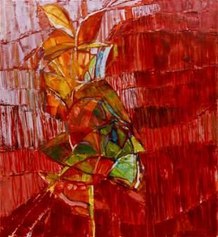Eva Lu Damianos Large Abstract Painting Growth