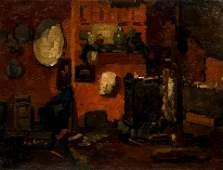 Attributed to Andre Derain Studio Interior oil